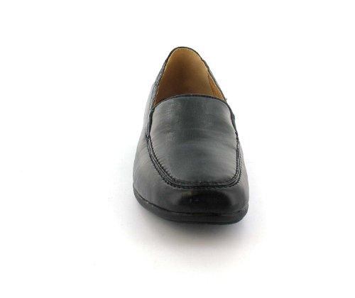 FEMMES / FEMMES NOIR MOCASSINS STYLE chaussures décontractées - Noir - tailles UK 3-9