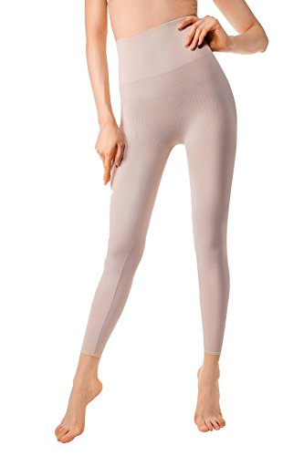 MD Compression Shapewear For Women Yoga Pant And Leggings Hips And Thighs Body Shaper Large Light Nude
