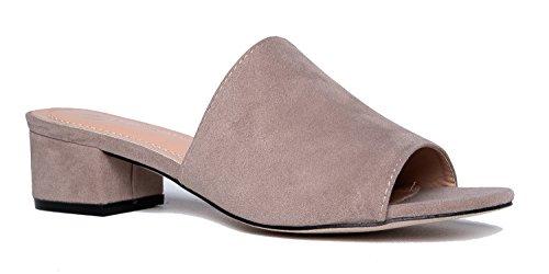 8383748171ae J. Adams Rudi Sandal Slide - Trendy Comfortable Open Toe Low Block Heel  Slip On