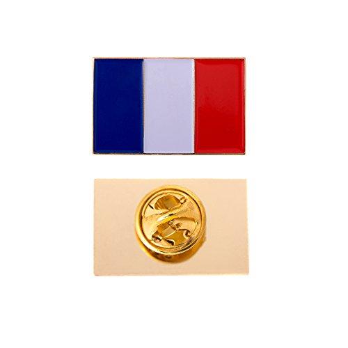 France Country Rectangle Flag Lapel Pin Enamel Made of Metal Souvenir Hat Men Women Patriotic French -