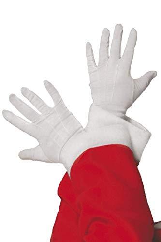 Santa Gloves, White
