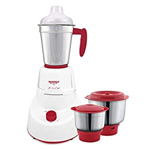 Maharaja Whiteline MG Livo Mixer Grinder, 500W, 3 Jars (Red)