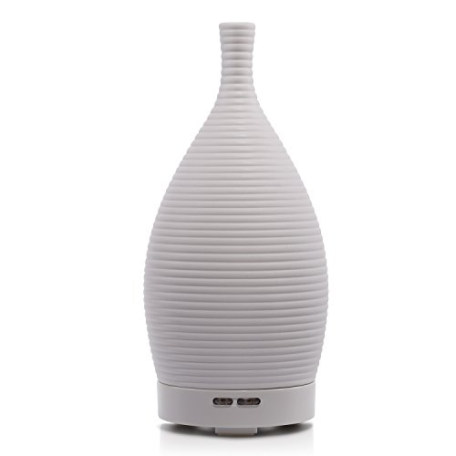 Bbymie BYMIE Ceramic Ultrasonic Aromatherapy Diffuser/Essential Oil Purifier Diffuser Air Humidifier(White) by Bbymie