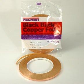 3/16'' Black Back Copper Foil - 1.25 Mil by Venture Tape