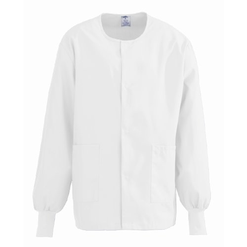Medline ComfortEase Unisex Warm-Up Scrub Jacket, Large, - Medline Jacket Womens
