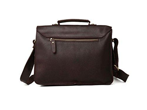 DJB/Leder Man Tasche Retro poliert Leder Herren-Casual Fashion Laptop Schultertasche 1 dVio4i8