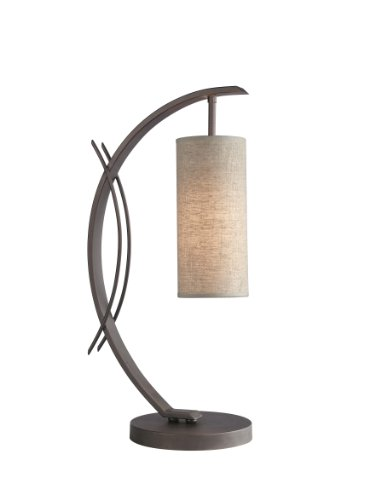 13482MEB-S10401 Eclipse 1-Light Table Lamp, 7-1/2-Inch by 21-3/4-Inch, Metallic Bronze ()