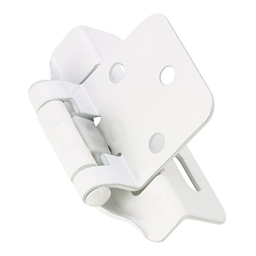 Richelieu Hardware - BP744830 - Pack of 2 units - Traditional  - Self-Closing Hinge - Partially Enveloping Hinge - White  - Cabinet Richelieu Hinges