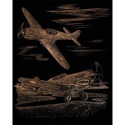 Bulk Buy: Royal Brush Copper Foil Engraving Art Kit 8''X10'' WWII Fighter CPPRFOIL-25 (3-Pack) by Royal & Langnickel