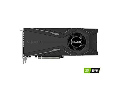 GIGABYTE GeForce RTX 2080 Ti Turbo OC 11G (rev. 2.0) Graphics Card, Turbo Style Fan, 11GB 352-Bit GDDR6, GV-N208TTURBO OC-11GC REV2.0 Video Card