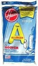 Hoover Clarify Bags Type A Allergen Filtration 4010100A (3 Packs of 4) Total of 12 Bags