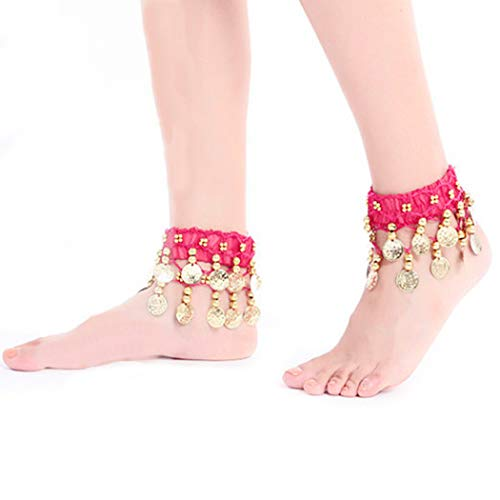 Victray Boho Coins Anklets Belly Dance Tassel Ankle Bracelets Summer Barefoot Beach Anklet Foot Chains Fashion Foot Jewelry for Women and Girls