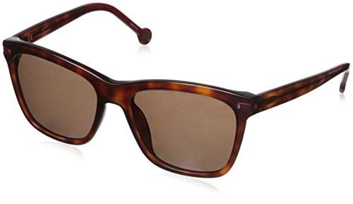 Carolina Herrera Women's SHE603 5409XW Rectangular Sunglasses, Havana Brown, Red & Brown, 54 - 2015 Herrera Sunglasses Carolina