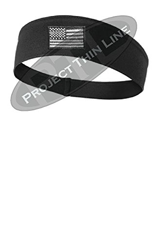 Yellow Dog Tactical Subdued American Flag Workout Moisture Wicking Headband  Color Choice (Black) f6409ded767