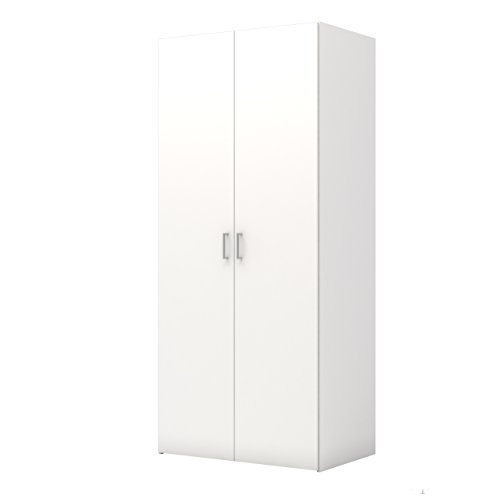 (Tvilum 704174949 Space Wardrobe with with 2 Doors, White)