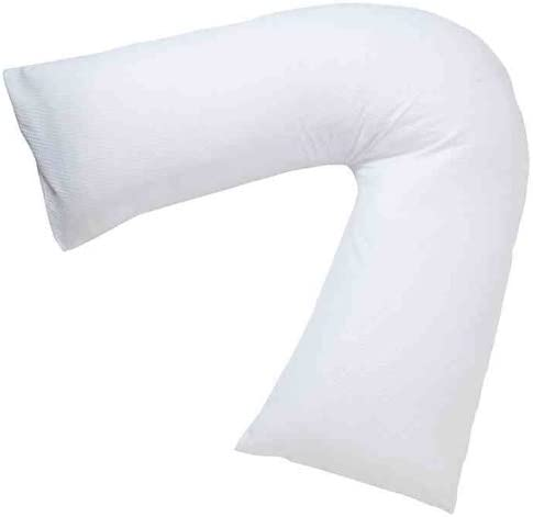 Orthopaedic//Pregnancy// Nursing V-shaped neck support hollow fibre filled pillow for ultimate comfort by A/&R