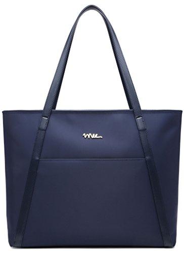 NNEE Large Water Resistance Nylon Travel Tote Shoulder Bag - Navy by NNEE Inc (Image #5)