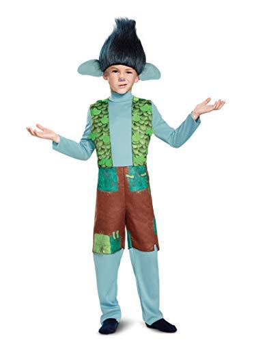 Kid Troll Halloween Costume (Branch Deluxe W/Wig Trolls Costume, Multicolor, Small)