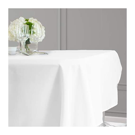 Kadut Rectangle Tablecloth (60 x 126 Inch) White Rectangular Tablecloth for 8 Foot Table | Heavy Duty Washable Table Cloth for Dinner, Parties, Weddings, | Wrinkle-Resistant Dining Table Cover - ☑️ EYE-CATCHING ACCESSORY TO ELEVATE ANY MEAL - Upgrade your kitchen table, dining room table, or buffet table with this stunning White rectangle tablecloth. The White tablecloth is made from smooth, thick hydraulic-loomed polyester that won't snag easily. ☑️ STAINS AND WRINKLES ARE NEVER A CONCERN - If you find yourself using disposable tablecloths instead of fabric table cloths because you hate wrinkles and stains, then this one is exactly what you need. The heavy-duty material is 100% stain and wrinkle resistant. ☑️ VERSATILE TABLECLOTH FOR RECTANGULAR TABLES. Seamless 60 x 126-inch multi-use table cover made from 100% polyester fabric. Great choice for Weddings, Birthday Party, Baby Shower, Food Buffet, Banquet, Thanksgiving and Christmas Dinner. - tablecloths, kitchen-dining-room-table-linens, kitchen-dining-room - 31Lkc7lroEL. SS570  -