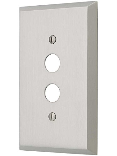 House of Antique Hardware R-010II-FBSP-S-SN Traditional Forged Brass Single Gang Push Button Switch Plate in Satin Nickel ()