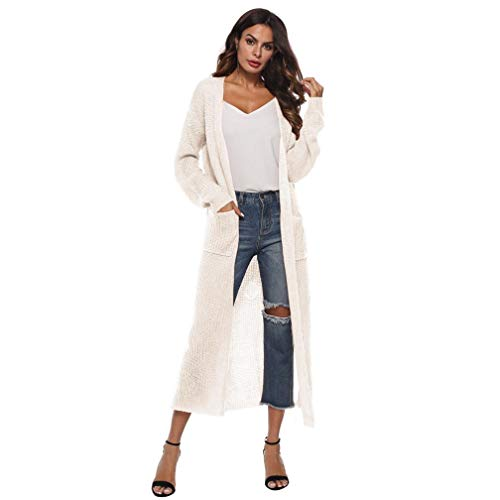 Spbamboo Women Coat Autumn Long Sleeve Open Cape Blouse Kimono Jacket (Conference White T-shirt)