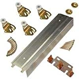 L.e. Johnson Products 2200F Series Bypass Track and Hardware Set for 2 Doors 48-Inch