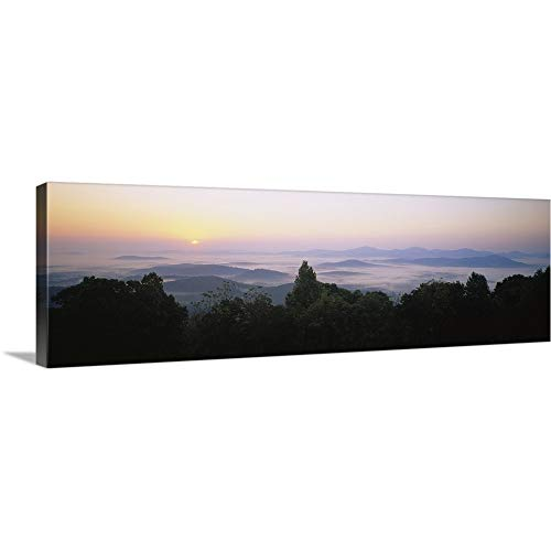 Blue Furniture Ridge (Canvas on Demand Premium Thick-Wrap Canvas Wall Art Print entitled High angle view of mountains, Rockfish Gap, Blue Ridge Mountains, Virginia 36