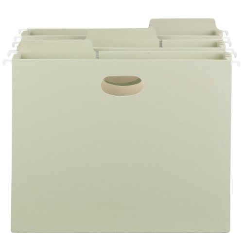 Smead FasTab Hanging File Pocket, 1/3-Cut Built-in Tab, 3-1/2