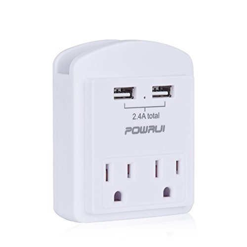 Multi Outlet, Wall Outlet, POWRUI Mini Wall Mount Adapter Su