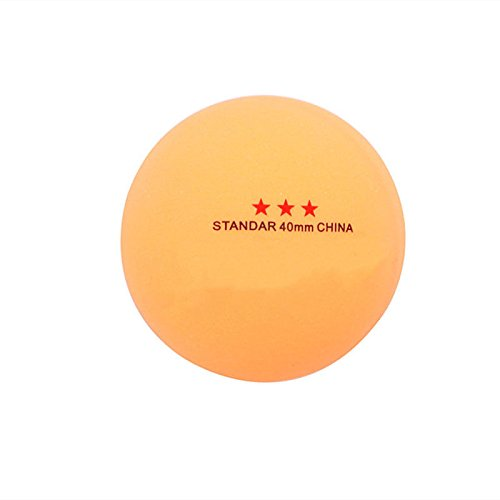 Yellow 50Pcs 3-Star Standard 40mm Olympic Table Tennis Ping Pong Balls Indoor Games new by princessdress08