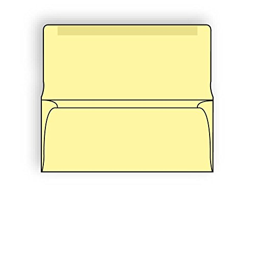 #9 Collection/Remittance Envelopes, 3-7/8'' x 8-7/8'' 24# Recycled Canary Pastel, Open Side, Flaps Extended (Box of 500) by The Envelope Supplies Shop