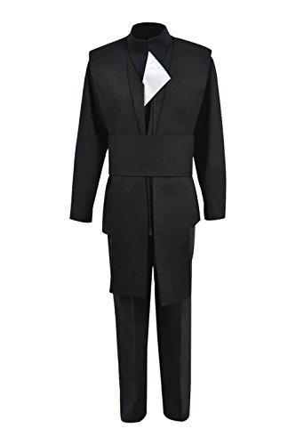 Qi Pao Hot Movie Jedi Luke Cosplay Costume Mens Halloween Cosplay Robe Outfit (Men-S, Black)