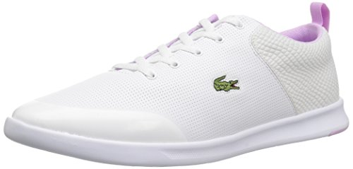 Lacoste Women's Avenir 118 2 Spw Sneaker, White/Light Purp, 6.5 M US