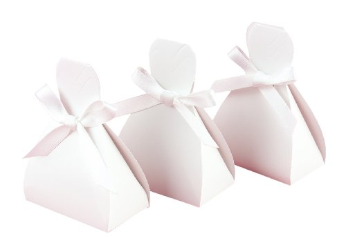 Hortense B. Hewitt Wedding Gown Shaped Favor Boxes, 3.75-Inch, White