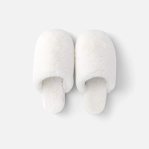 Santé Chaud La Intérieur Maison Antidérapante Pour Au Pantoufles Automne Usure Td Confort Ménage Coton Et Antidérapant Chaleur Blanc Hiver En Garder Environnementale 6fnTS