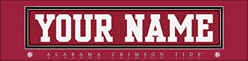 Alabama Crimson Tide College Jersey Nameplate Wall Print, Personalized Gift, Boy's Room Decor 6x22 Unframed Poster ()