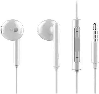 Auriculares Manos Libres Huawei, para dispositivos con entrada Mini Jack, compatible con Samsung, Huawei, Xiaomi, LG, Blanco