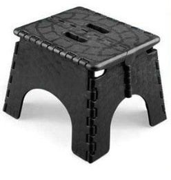 single step folding step stool black - Folding Step Stool
