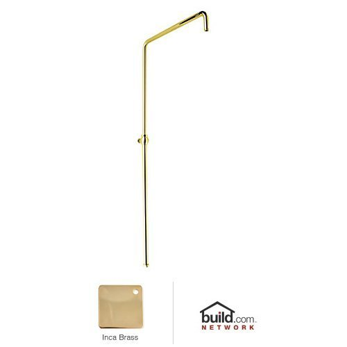 Rohl 1565IB 1565 Country Bath Swiveling Riser with Hand Shower Hose And Parking Bracket, Inca Brass (Hand Shower Bracket Parking)