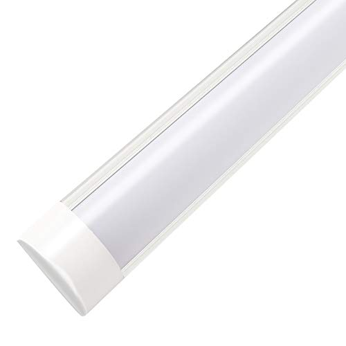 3FT LED Tube Light, 30W LED Batten Lights, 2250 Lumens, 6500K Daylight, Milky Cover, T8 T10 T12 Fluorescent Fixture Replacement for Garage, Shop, Warehouse, Office, Market - 1 Pack