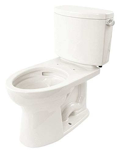TOTO Drake II Two Piece Tank Toilet, 1.0 Gallons per Flush, Cotton