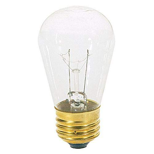 Norman Lamps 11S14-130V-MEDx36 Light Bulb, 11 Watts, 0.08 Amps, 130 Volts, Degrees_Fahrenheit, to Volts, Amps, (Pack of 36)
