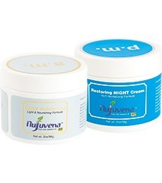 Real Time Nujuvena Daily Moisturizer and Restoring Night Cream, 2 Ounce Each, 2 Jars (Best Moisturizer To Use With Epiduo)