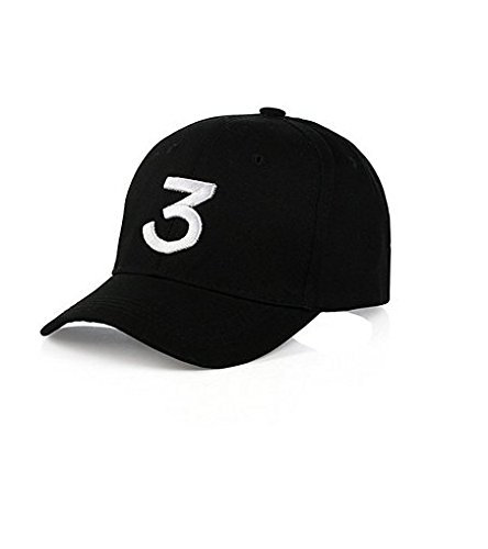 ecd3ada5d13f8 IVYRISE Fashion Embroider Baseball Chance Caps Hats Cool Baseball Rapper  Caps with Number 3