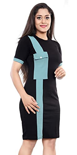 LONDON BELLY Women's Bodycon Knee Length Dress