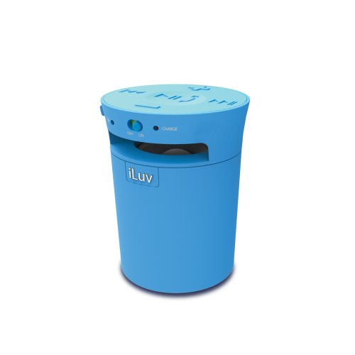 iLuv MobiCup (iSP165) Splash-resistant wireless Bluetooth speaker and speakerphone-Blue