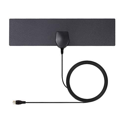 Yeshineah HD Digital TV Antenna Long 35 Miles Range  Support 4K 1080p and all Older TV's Indoor Powerful HDTV  9.8foot Coax Cable (Black)