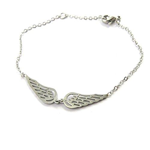 Bracelet steel 'Les Ailes D'ange' silvery.