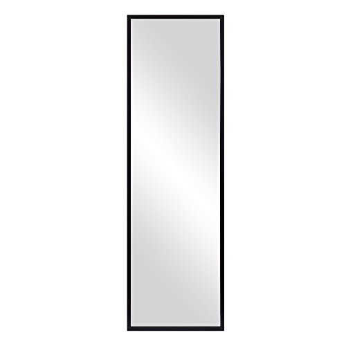 Patton Wall Decor Black Free Standing Floor Mirror with Adjustable Easel, 17
