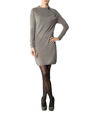 Liu Farbe Kleid Viskose Unifarben Beige Dress Jo XL Größe Damen wrHq84nxw